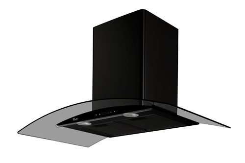 Turbo Incanto TAE96-BK 90cm black colour chimney hood
